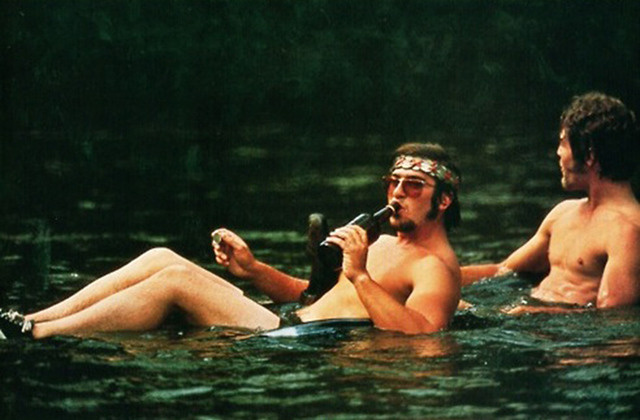 Men in sweat lodge naked