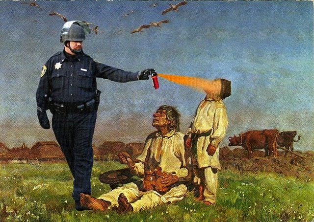 pepper spray what do occupy protesters think about pepper spray cop being awarded