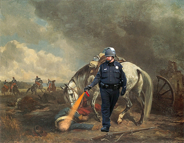 pepper spray meme what do occupy protesters think about pepper spray cop being awarded