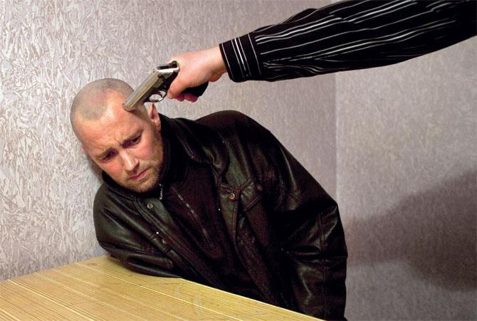 Interrogation two brutal guys