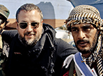 Shane Smith filming in Benghazi, Libya